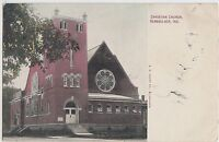 Indiana In Postcard 1915 RENSSELAER Christian Church Building