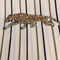 Womens Vintage Scarf Sash Leopard Bars Wild Animal Print Beige Black Gold