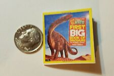 Miniature Dollhouse Action Figure  book Barbie 1/12 Scale Dinosaur Book