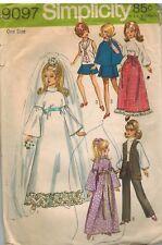 9097 Vintage Simplicity Nähen Muster Puppe Kleidung für Barbie Julia Maddie
