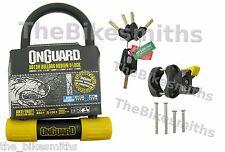 "OnGuard Bulldog 8013M Medium U-lock Track Bike Fixed Hardened 3.55"" x 6.90"""