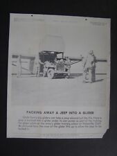 VTG WWII March 26 1943 Tel-Pics War Bonds Poster Packing Away A Jeep in A Glider