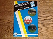 01/12/1979 Cardiff City v Oldham Athletic  Division 2 Programme
