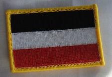 AUFNÄHER PATCH AUFBÜGLER FAHNE FLAGGE REICHSFLAGGE KAISERREICH SCHWARZ WEISS ROT