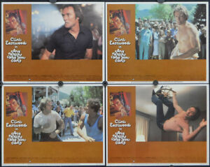 ANY WHICH WAY YOU CAN 1980 AUTHENTIC 11X14 MINT LOBBY CARD SET CLINT EASTWOOD