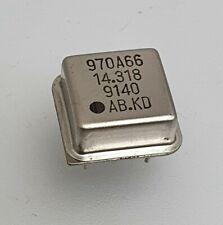 14.318 MHz CRYSTAL BASIC CLOCK OSCILLATOR HALF DIP TYPE 5V 970A66