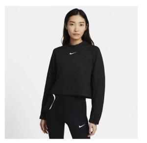NWT$130 Nike Sportswear Tech Fleece Women's Long Sleeve Top Black CZ1859-010 S