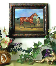 Dalby Race Horse MATILDA Thoroughbred Print Antique Styl Framed 11X13 picture