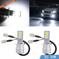 2x H3 70W High Power LED Fog Driving DRL Light Bulbs Headlight Kit 6000K White