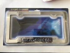 MAZDA SPEED CHROME LICENSE PLATE FRAME UNIVERSAL for FRONT or REAR PLATE