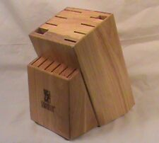 Sabatier 14 Slot Oak Wood Cutlery Knife Block
