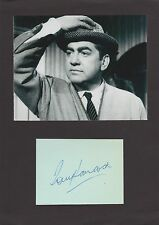 Tony Hancock Autograph , Original Hand Signed Display