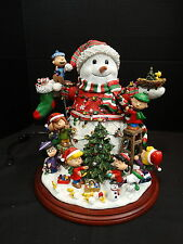 Danbury Mint Lighted Figurine Collection ~ The Peanuts Christmas Snowman ~ Mib