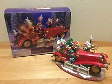 Enesco Christmas Mice Santa's Roadster Multi-Action/Lights Music Box MIB
