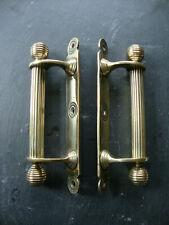 "Super quality matched pair of original beehive pull door handles 8.5"""