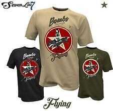 T-Shirt Pin Up Girl Bomb Flieger Flugzeug RC Flug Rockabilly Bombshell USA Army