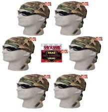6-CAMO Vert Militaire Woods Camouflage Noué Bandana Tête Crâne Casquette Doo Do