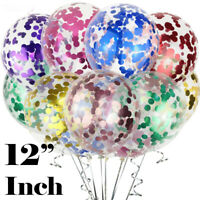 """20 Pack Confetti Balloons Latex 12"""" Decorations Helium Birthday Wedding Party"""