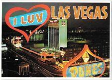 Dunes I Luv Las Vegas Strip Flamingo Barbary Coast OOP vintage postcard Casino