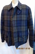 Polo Ralph Lauren Mens Green Blue Tartan Plaid Wool Heavy Jacket Sz XL