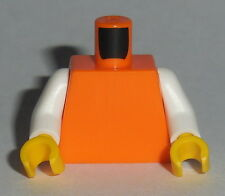 TORSO Lego 2 Tone Plain Orange Torso White Arms Yellow hands NEW Genuine Lego