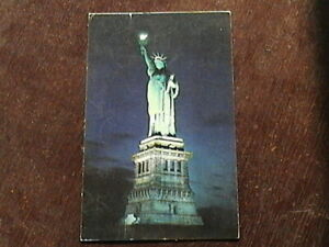 Posted Postcard of Statue of Liberty At Night Bedloe's Island New York