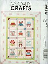 Children's Quilt McCalls Pattern 6412 Pearl Louise Design for Little Girls Uncut