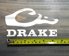 """Drake Waterfowl Sticker Decal DIE CUT 5.5"""" Systems White Duck Goose Hunting XO"""