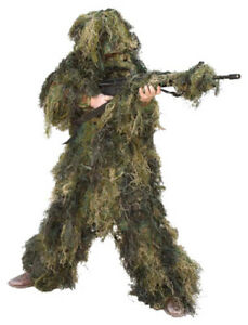 Red Rock Gear Ghillie Outdoor Hunting Suit Woodland Camouflage Youth L 70915YL