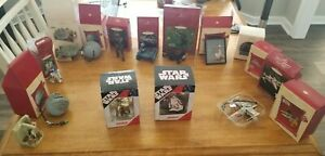 Lot of 16 most Hallmark Keepsake Star Wars Ornaments Darth Vader Tie Fighter etc