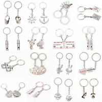 1Pair Couple Keychain Men and Women Valentine Metal Alloy Lover Key Ring Chain t