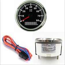 0-8000 RPM 85mm Car Marine Tachometer Gauge LCD Tacho Hour Meter Red LED
