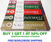 Genuine Golden Nag Champa, Chandan Incense Sticks: 15 gram boxes - Choose Scent