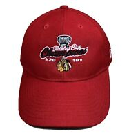 2010 New Era Chicago Blackhawks Stanley Cup Champions Red Adjustable Cap