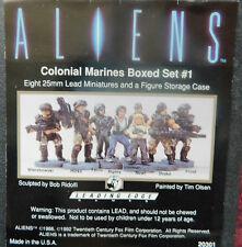 aliens colonial marine miniatures boxed set 1 ( metal painted) 1992