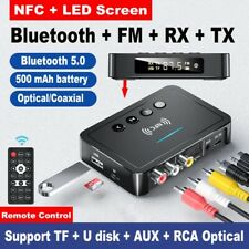Bluetooth 5.0 Empfänger Cinch Buchse NFC Hifi Wireless Adapter Audio 3.5mm AUX