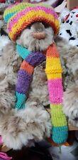 Handmade rainbow winter bear