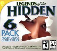 Legends Of The Hidden object PC Games 6 Pack DISC ONLY NO CASE NO ART UNUSED CON
