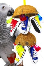 1782 Duo Coco Sneaker parrot bird cage toys cages african grey cockatoo amazon