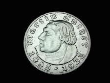 Dt.-Reich, 3. Reich, 5 Reichsmark, 1933 D, M. Luther, J.-352, Silber, orig.,vz.!