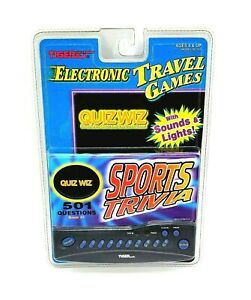Quiz Wiz #1 Sports Question & Answer Tiger Handheld Electronic Travel Game NEW