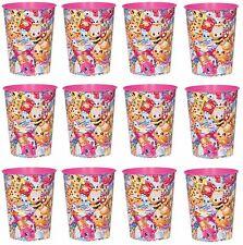 Shopkins Kooky Cookie REUSABLE KEEPSAKE CUPS 12x Birthday Party Supplies Plastic