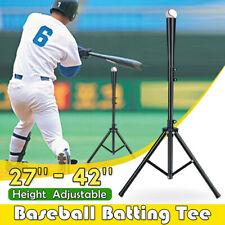 Baseball Softball Batting Tee Tripod Travel Training Aids Height Adjustable