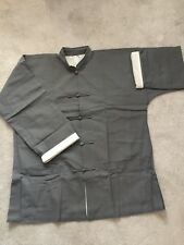 Vintage Grey 100 % Cotton Men's Chinese Style Coat  Size L Brand New