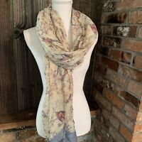 Tickled Pink Sheer Lightweight Summer Scarf Insect Shield Face Covering Bird