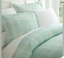 Green Thatched Pattern Duvet Set Queen