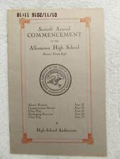 Commencement Program Class of 1928 Allentown High School PA 10 Pgs Hard to Find