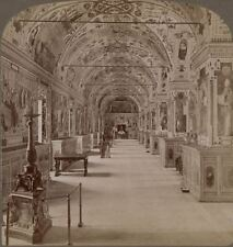 Italy. The Library of the Vatican, The Vatican, Rome. Stereoview #016