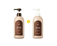 [SKINFOOD] Argan Oil Silk Plus Hair Shampoo 500ml & Hair Conditioner 500ml