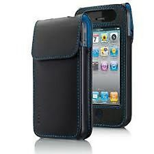 IPhone 4 4S 4G Belkin Leather Verve Custodia CASE POUCH NERO BLU